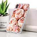 olcso iPhone tokok-Case Kompatibilitás Apple iPhone XR Porálló / Ultra-vékeny / Minta Fekete tok Virág Puha TPU mert iPhone XR