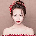 ieftine Moda Lolita-Mireasă klasické Tradițional Stil Chinezesc Veșminte de cap Clești Pentru Cheful Burlacelor Petrecere Nuntă Pentru femei Fete Costum de bijuterii / Floral