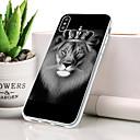 billiga Laddare-fodral Till Apple iPhone XS Dammtät / Ultratunt / Mönster Skal Djur / Lejon Mjukt TPU för iPhone XS