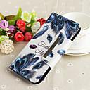 رخيصةأون أغطية أيفون-غطاء من أجل Huawei Huawei P20 lite محفظة / حامل البطاقات / قلب غطاء كامل للجسم الريش قاسي جلد PU