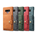 cheap Galaxy Note Series Cases / Covers-Case For Samsung Galaxy Note 9 Wallet / Card Holder / Shockproof Back Cover Solid Colored Hard PU Leather for Note 9