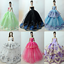 Недорогие Аксессуары для PS3-Прицесса / Элегантный стиль / С пышной юбкой Платья 6 pcs Для Кукла Барби органза Одежда для кукол Для Девичий игрушки куклы