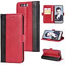 رخيصةأون أغطية أيفون-غطاء من أجل Huawei Honor 9 محفظة / حامل البطاقات / قلب غطاء خلفي لون سادة قاسي جلد PU