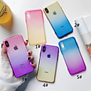 abordables Coques d'iPhone-Coque Pour Apple iPhone XS / iPhone XS Max Translucide Coque Dégradé de Couleur Flexible TPU pour iPhone XS / iPhone XR / iPhone XS Max