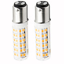 preiswerte LED-Kolbenbirnen-2pcs 4.5 W 450 lm BA15D LED Mais-Birnen T 76 LED-Perlen SMD 2835 Abblendbar Warmes Weiß / Kühles Weiß 220 V