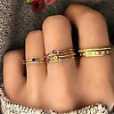 olcso Gyűrűk-Női Kocka cirkónia Retro Gyűrű készlet Több ujjas gyűrű Strassz Ötvözet hölgyek Stílusos Egyszerű Klasszikus aranyos stílus Színes Divatos gyűrű Ékszerek Arany Kompatibilitás Ajándék Napi Estély