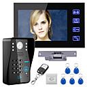 billige Video Dørtelefonsystemer-røre nøglen 7 lcd RFID adgangskode video dørtelefon intercom-system kit elektrisk strejke lås trådløs fjernbetjening låse