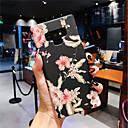 رخيصةأون إكسسوارات سامسونج-غطاء من أجل Samsung Galaxy Note 9 / Note 8 يضوي ليلاً / مثلج غطاء خلفي زهور قاسي الكمبيوتر الشخصي