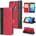 cheap Cases / Covers for Huawei-Case For Huawei P20 lite Wallet / Card Holder / Flip Back Cover Solid Colored Hard PU Leather for Huawei P20 lite