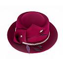 ieftine Becuri LED Bi-pin-Elizabeth Minunata doamnă Maisel Pentru femei Adulți femei Retro / Vintage Pălării Felt pălărie Fucsia Pene Lână Veșminte de cap Lolita Accesorii