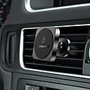 abordables Coques d'iPhone-CaseMe Automatique Support de support Grille de sortie d'air Type magnétique / Ajustable / Rotation 360 ° Aluminium / Silicone / Métal Titulaire
