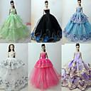 hesapli PS3 Aksesuarları-Prenses Lolita / Zarif / Balo Elbiseler 6 pcs İçin Barbie Bebek organza Oyuncak Bebek Giysileri İçin Kız Oyuncak bebek