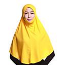 رخيصةأون أقراط-حجاب لون سادة نسائي - متعدد الطبقات بوليستر, أساسي / كل الفصول