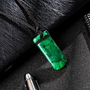 cheap Magnet Toys-Men's Classic Pendant Necklace Resin Classic Trendy Fashion Cool Dark Green 31 cm Necklace Jewelry 1pc For Daily Street