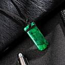 billige Halskjeder-Herre Klassisk Anheng Halskjede Harpiks Klassisk trendy Mote Kul Mørkegrønn 31 cm Halskjeder Smykker 1pc Til Daglig Gate
