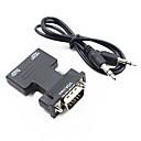 رخيصةأون ملصقات ديكور-HDMI 1.4 محول كابل, HDMI 1.4 إلى VGA / 3.5mm الصوت محول كابل ذكر - انثى 1080P قصير (تحت 20 سم)