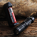 cheap Flashlights-LED Flashlights / Torch Cree® XM-L T6 1 Emitters 1600 lm Waterproof Adjustable Focus Camping / Hiking / Caving Everyday Use Cycling / Bike