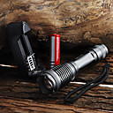 cheap Fruit & Vegetable Tools-UltraFire LED Flashlights / Torch 2000 lm LED LED 1 Emitters 5 Mode with Battery and Charger Waterproof Zoomable Adjustable Focus Camping / Hiking / Caving Everyday Use Cycling / Bike Black