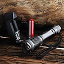 halpa Hedelmä- ja vihannesleikkurit-UltraFire LED taskulamput 2000 lm LED LED 1 Emitters 5 lighting mode Akulla ja laturilla Vedenkestävä Zoomable Säädettävä fokus Telttailu / Retkely / Luolailu Päivittäiskäyttöön Pyöräily Musta