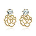 levne Náušnice-Dámské Klasika Visací náušnice - Pozlacené Umělé diamanty Romantické Šperky Zlatá Pro Párty Narozeniny Dovolená Jdeme ven 1 Pair