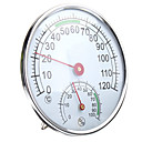 رخيصةأون أجهزة القياس الرقمية & أجهزة قياس الذبذبات-الفولاذ المقاوم للصدأ ميزان الحرارة / الرطوبة لغرفة ساونا درجة الحرارة الرطوبة متر