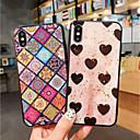 olcso iPhone tokok-Case Kompatibilitás Apple iPhone XS / iPhone XS Max Ütésálló / Porálló / Minta Fekete tok Szív / Mértani formák Puha TPU mert iPhone XS / iPhone XR / iPhone XS Max