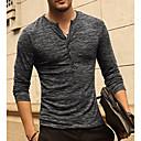 ieftine Machiaj & Îngrijire Unghii-Bărbați În V Tricou De Bază / Șic Stradă - Mată Roz Îmbujorat / Manșon Lung