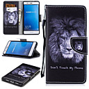 cheap Vehicle Consoles & Organizers-Case For Huawei P9 Lite Wallet / Card Holder / Shockproof Full Body Cases Lion Hard PU Leather for Huawei P9 Lite