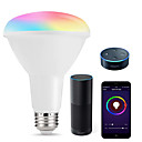 tanie Żarówki LED smart-inteligentne żarówki led wielobarwny wifi doprowadziły światła br30 ściemniania żarówek wpuszczone 75w-80w odpowiednik światła powodzi zgodny z amazon alexa i google asystent