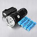 ieftine Lanterne de Mână-3 Lanterne LED LED 6 emițători 6000 lm Rezistent la Impact Reîncărcabil Mască exterioară lanternă Camping / Cățărare / Speologie Utilizare Zilnică Ciclism