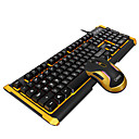 cheap Mouse Keyboard Combo-ZERODATE K12 USB Wired Mouse Keyboard Combo Cute / 3D Cartoon / Cool Office Keyboard Luminous Gaming Mouse / Office Mouse 5500 dpi Gaming
