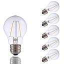 abordables Lampes à Filament LED-6pcs gmy a17 led edison ampoule 2w led ampoule à incandescence équivalente 21w avec e26 base 2700k pour chambre salon maison décoratif