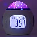 رخيصةأون ديكورات خشب-1PC ساعة منبهة الصمام ليلة الخفيفة ثلاثية الألوان بطاريات آ بالطاقة إبداعي <=36 V