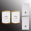 זול שעוני גברים-אלחוטי צלצול פעמון לשתיים מוסיקה / דינג דונג פעמון דלת ללא חזותי משטח מורכב