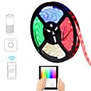 お買い得  LED ストリングライト-JIAWEN 5m フレキシブルLEDライトストリップ / スマートライト 300 LED SMD5050 マルチカラー 防水 / APPコントロール / ノンテープ・タイプ 100-240 V 1セット