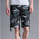 ieftine Broșe-Bărbați De Bază / Militar Mărime Plus Size Zilnic Pantaloni Scurți Pantaloni - camuflaj Gri Verde Militar Kaki 38 42 44