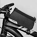 رخيصةأون حقائب الدراجة-1.2 L حقيبة دراجة الإطار مقاوم للماء المحمول يمكن ارتداؤها حقيبة الدراجة 600D بوليستر حقيبة الدراجة حقيبة الدراجة للجنسين الدراجة
