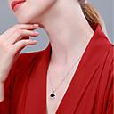 halpa Korvakorut-Naisten Kaulakoru S925 Sterling Hopea Muoti Hopea 40+3 cm Kaulakorut Korut 1kpl Käyttötarkoitus Syntymäpäivä mielitietty