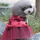 ieftine Imbracaminte & Accesorii Căței-Câini Rochii Îmbrăcăminte Câini Cristale / Strasuri Rosu Roz Kaki Amestec poli / bumbac Costume Pentru Primăvara & toamnă Vară Femeie Sweet Style Petrecere