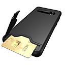 رخيصةأون حافظات / جرابات هواتف جالكسي S-غطاء من أجل Samsung Galaxy S9 / S9 Plus / S8 Plus حامل البطاقات / مع حامل غطاء خلفي لون سادة قاسي TPU