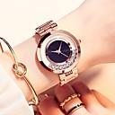 ieftine Ceasuri Damă-Pentru femei Ceas de Mână ceas de aur Quartz Oțel inoxidabil Roz auriu Rezistent la Apă Ceas Casual Analog Casual Modă - Mov Rosu Roz