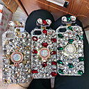 abordables Coques d'iPhone-Coque Pour Apple iPhone XS Max / iPhone 6 Strass Coque Strass Dur TPU pour iPhone XS / iPhone XR / iPhone XS Max
