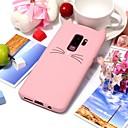 رخيصةأون حافظات / جرابات هواتف جالكسي S-غطاء من أجل Samsung Galaxy S9 / S9 Plus / S8 Plus نحيف جداً غطاء خلفي قطة / 3Dكرتون ناعم TPU