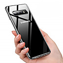 levne Galaxy S pouzdra / obaly-Carcasă Pro Samsung Galaxy Galaxy S10 / Galaxy S10 Plus Prachuodolné / Galvanizované / Průhledné Zadní kryt Jednobarevné Měkké TPU pro Galaxy S10 / Galaxy S10 Plus