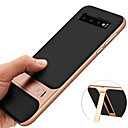 cheap Galaxy S Series Cases / Covers-Case For Samsung Galaxy Galaxy S10 / Galaxy S10 Plus Shockproof / with Stand / Plating Back Cover Solid Colored Hard TPU for S9 / S9 Plus / S8 Plus