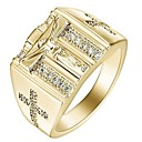 رخيصةأون خواتم-رجالي نسائي خاتم 1PC ذهبي فضي سبيكة هدية مناسب للبس اليومي مجوهرات