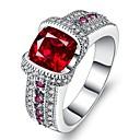 رخيصةأون خواتم-نسائي خاتم مكعب زركونيا 1PC أحمر سبيكة هدية حفلة الزفاف مجوهرات مهد