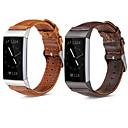 رخيصةأون أساور ساعات FitBit-حزام إلى Fitbit Charge 3 فيتبيت عصابة الرياضة / بكلة عصرية ستانلس ستيل / جلد طبيعي شريط المعصم