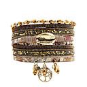 billige Mode Halskæde-mode kvinder levetid metal læber rhinestone krystal perler læder armbånd