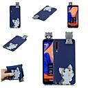 رخيصةأون حافظات / جرابات هواتف جالكسي A-غطاء من أجل Samsung Galaxy A6 (2018) / A6+ (2018) / Galaxy A7(2018) نموذج غطاء خلفي قطة / كارتون ناعم TPU